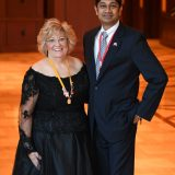 Anand Jayaraman with Sponsor Sally Kolar, M. Photog, CPP. Image Credit - Melissa Gordon