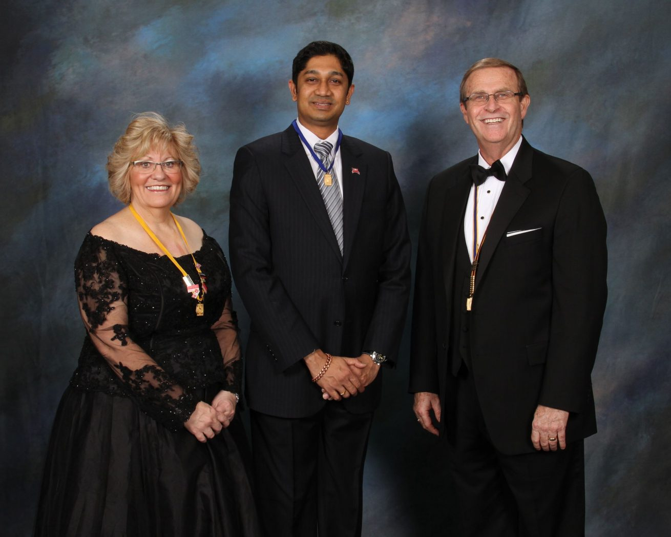 Anand Jayaraman with Mentor and Sponsor Sally Kolar, M. Photog, CPP and PPA President Stephen Thetford