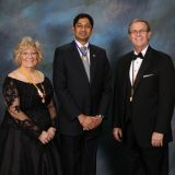Anand Jayaraman with Mentor and Sponsor Sally Kolar, M. Photog, CPP and PPA President Stephen Thetford